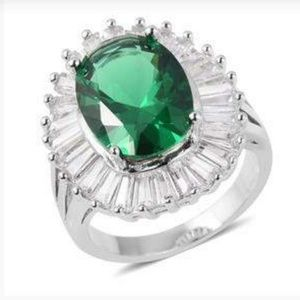 Jewelry - Simulated Emerald, Simulated White Diamond